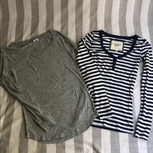 Pink and Abercrombie Long sleeve T-shirt bundle
